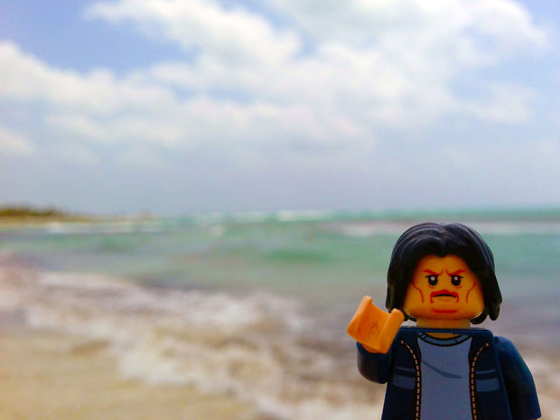 Lego Uncle Jim at the Beach