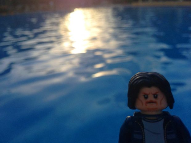 Lego Uncle Jim at the pool
