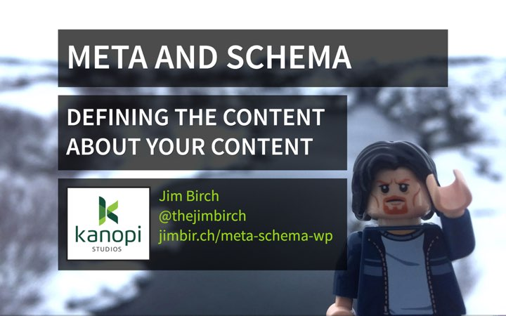 Meta and Schema: The Content about your Content (WordPress)