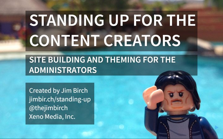 Standing up for the Content Creators Presentation