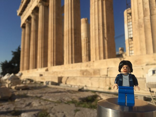Lego Uncle Jim at the Parthenon