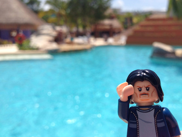 Lego Uncle Jim at the Pool Bar