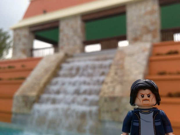 Lego Uncle Jim at the Ancient Waterfall