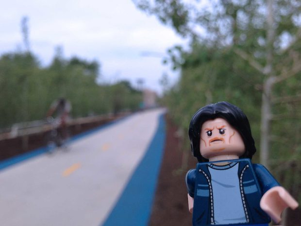 Lego Uncle Jim on the Bloomingdale Trail