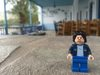 Lego Uncle Jim in Greece at the cafe